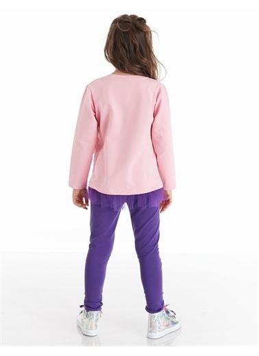 Denokids Colorfull Unicorn Kız Tunik Takım Lacivert